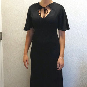 Vintage Slinky Sexy Formal Gown Maxi Disco Dress